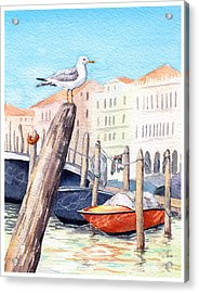Venice - Boats, Water, Buildings And Acrylic Print
