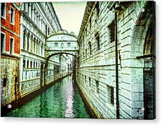 Venice Bridge Of Sighs Acrylic Print