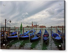 Acrylic Print featuring the photograph Venice Gondola's Grand Canal by Nathan Bush