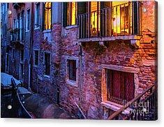 Venice Windows At Night Acrylic Print