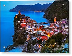 Vernazza Village, Aerial View On Acrylic Print