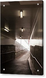 Viaduct With Rails On Walls Acrylic Print