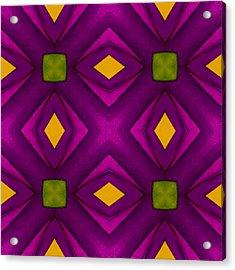 Vibrant Geometric Design Acrylic Print