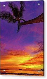 Vibrant Kona Inn Sunset Acrylic Print