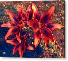 Vibrant Red Lilies Acrylic Print