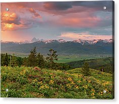Victor Idaho Sunset Acrylic Print