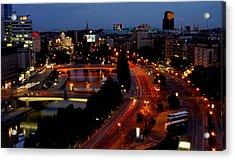 Vienna - City Night Lights Acrylic Print