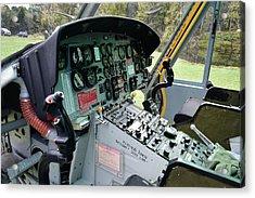 Vietnam Era Helicopter 049 Control Panel 01 Acrylic Print