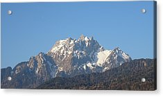 View From My Art Studio - Pilatus I - April 2019 Acrylic Print