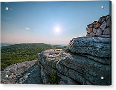 View From Sams Point Preserve In Acrylic Print by Boogich