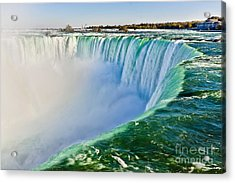 View From The Edge Of Niagara Falls Acrylic Print