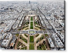View From The Eiffel Tower, Down The Acrylic Print