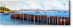 View From The Moshier's Tiki Bar Acrylic Print
