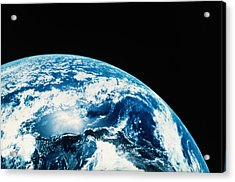 View Of Earth In Space Acrylic Print