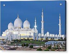 View Of Famous Abu Dhabi Sheikh Zayed Acrylic Print