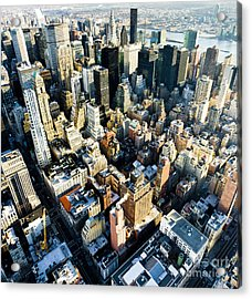 View Of Manhattan From The Empire State Acrylic Print