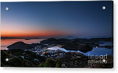 View Of Patmos Island After Sunset Acrylic Print