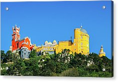 View Of Pena National Palace, Sintra, Portugal, Europe Acrylic Print
