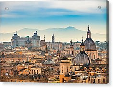 View Of Rome From Castel Santangelo Acrylic Print