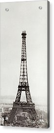 View Of The Construction Of The Eiffel Tower, Paris, 12th February And 12th March 1889 Acrylic Print