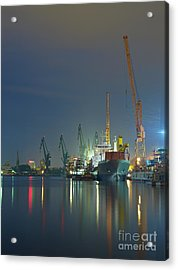 View Of The Quay Shipyard Of Gdansk Acrylic Print