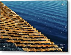 View Of The River From The Rooftop. Algarve Acrylic Print