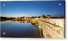 View Of Tiberio Bridge Acrylic Print by Maremagnum