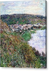 View Of Vetheuil - Digital Remastered Edition Acrylic Print