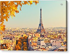 View On Eiffel Tower At Sunset, Paris Acrylic Print