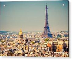 View On Eiffel Tower, Paris, France Acrylic Print