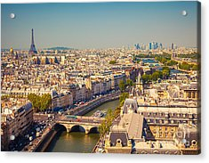 View On Paris Form Notre Dame Cathedral Acrylic Print
