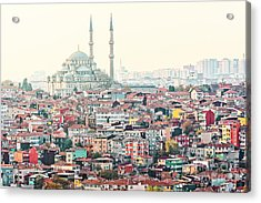 View Over Istanbuls Dense Residential Acrylic Print