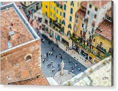 View Over Piazza Delle Erbe Markets Acrylic Print
