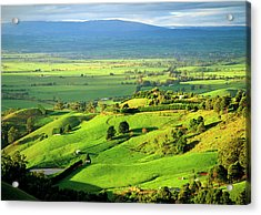 View Over The Latrobe Valley To The Baw Acrylic Print