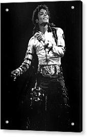 Views Of Michael Jackson Concert During Acrylic Print