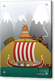 Viking Ship Acrylic Print