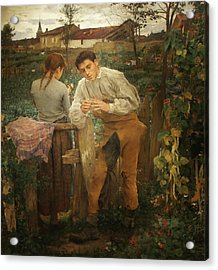Village Lovers Acrylic Print by Jules Bastien-Lepage