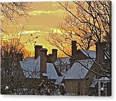 Acrylic Print featuring the photograph Village Morning by Don Moore