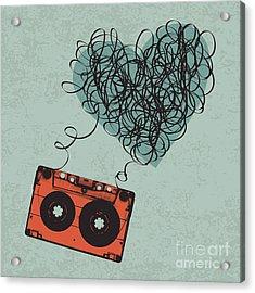 Vintage Audio Cassette Illustration Acrylic Print