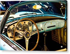 Acrylic Print featuring the photograph Vintage Blue Car by Top Wallpapers