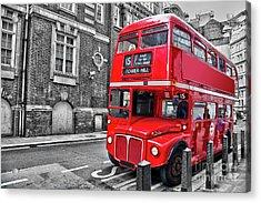 Vintage Bus In London Acrylic Print