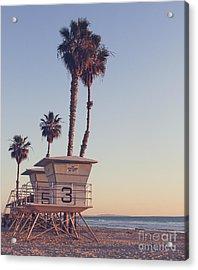 Vintage California Life Guard Station - Acrylic Print by Dcornelius