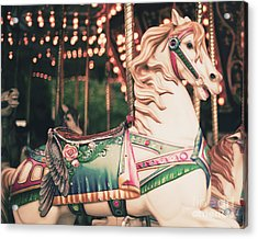 Vintage Carousel Horse Acrylic Print by Andrekart Photography