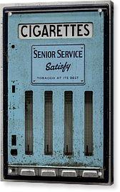 Senior Service Vintage Cigarette Vending Machine Acrylic Print