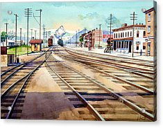Vintage Color Columbia Rail Yards Acrylic Print