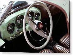 Acrylic Print featuring the photograph Vintage Kaiser Darrin Automobile Interior by Debi Dalio