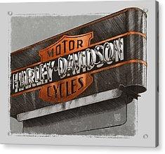 Vintage Motorcycle Shop Acrylic Print