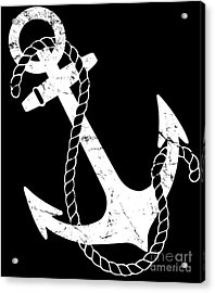 Acrylic Print featuring the digital art Vintage Nautical Anchor by Flippin Sweet Gear