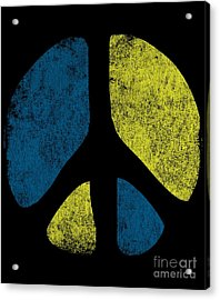 Acrylic Print featuring the digital art Vintage Peace Sign by Flippin Sweet Gear