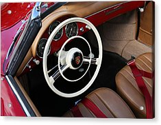 Acrylic Print featuring the photograph Vintage Red Convertible Interior by Debi Dalio